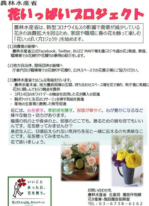 「花いっぱいプロジェクト」を始めます!